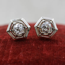 c1910 Old Mine Cut 1.10 Carat Diamond Studs