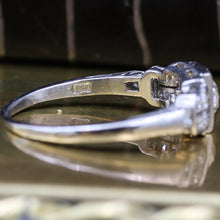 c1900 Handmade Platinum .65ct Old Mine Cut Diamond Ring