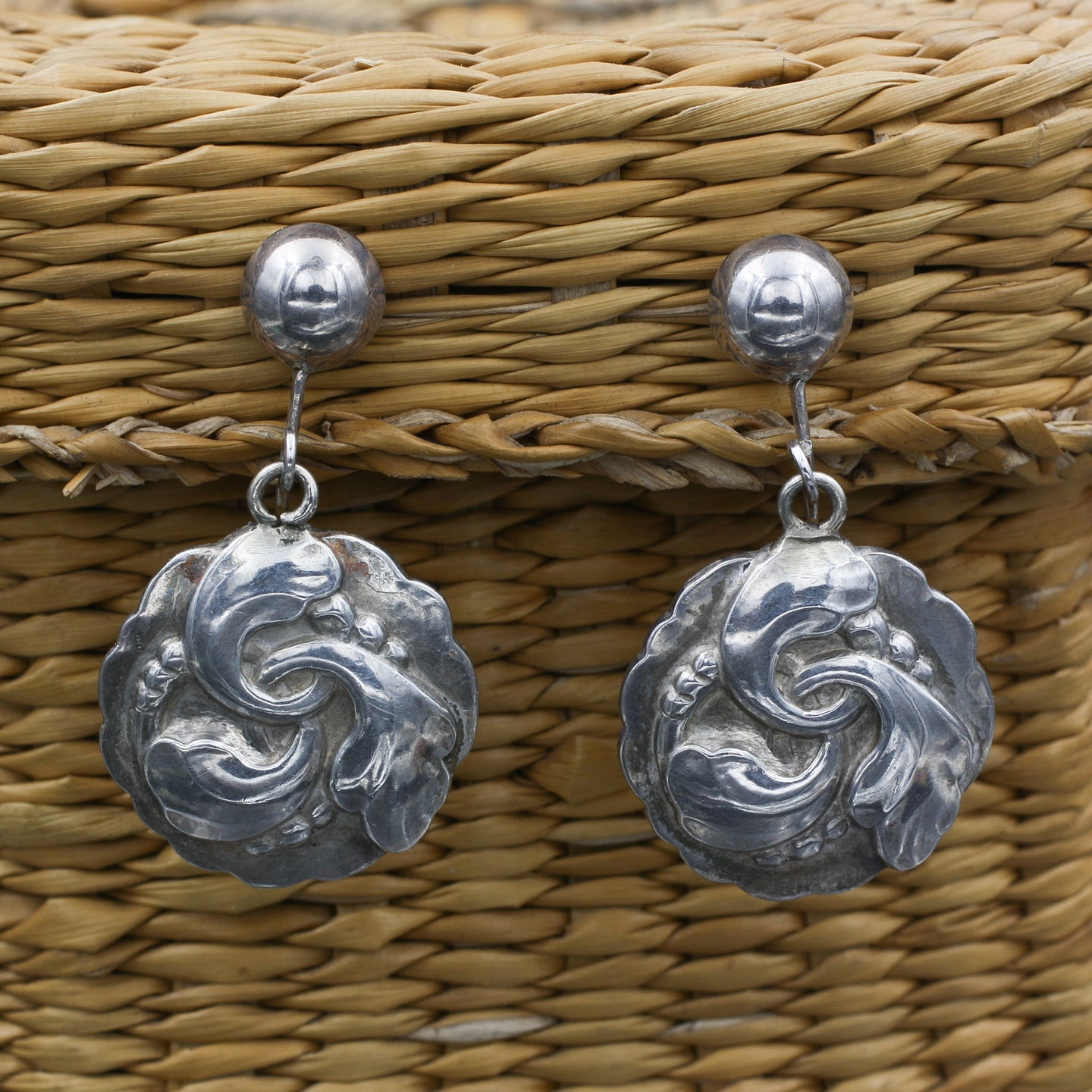 Georg Jensen Sterling Earring c1944-45