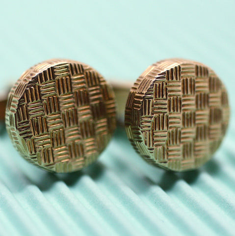 Circa 1950 14K Tiffany & Co. Cufflinks