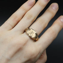 c1900 Rose Gold Signet Shield Ring