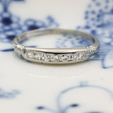 1920s-40s 18k Fine Diamond Band