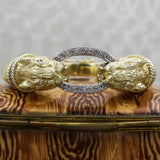 c1980 18k Diamond Panther Bangle