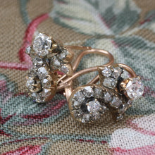 Old Mine Diamond Ribbon Stud Earrings c1880