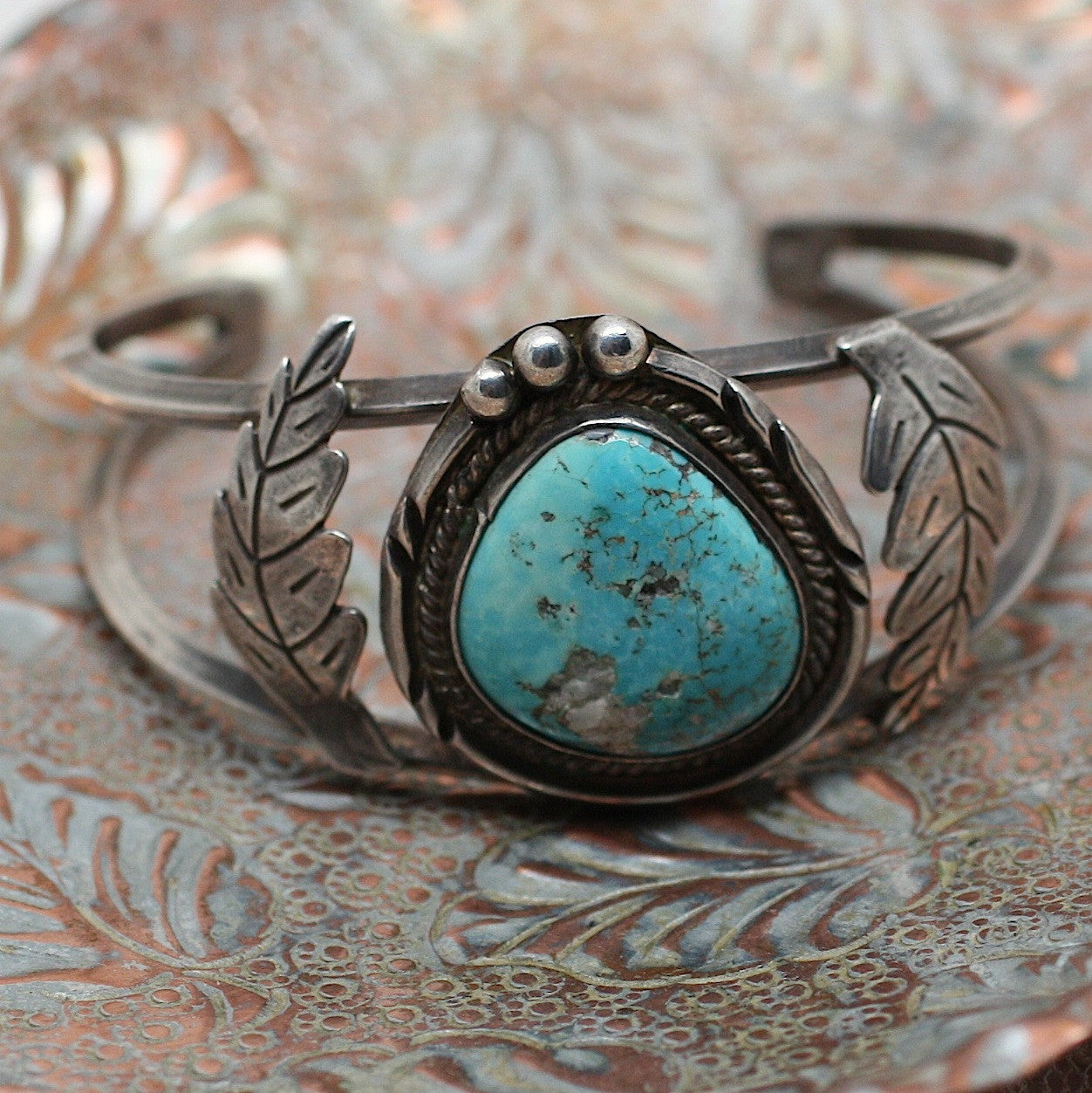 Circa 1970 Old Pawn Turquoise & Sterling bracelet