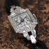 Circa 1920 Handmade Platinum & Diamond Watch