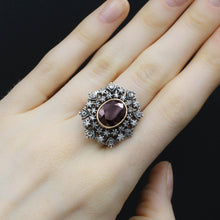 Georgian Revival Garnet and Diamond Ring c1930