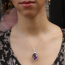 Rose Cut Diamond and Amethyst Pendant c1910