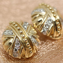 Circa 1980 14K Diamond Earrings