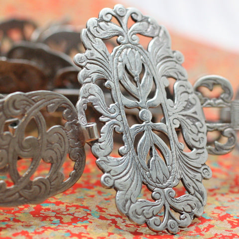 Circa 1910 Silver Plated Belt