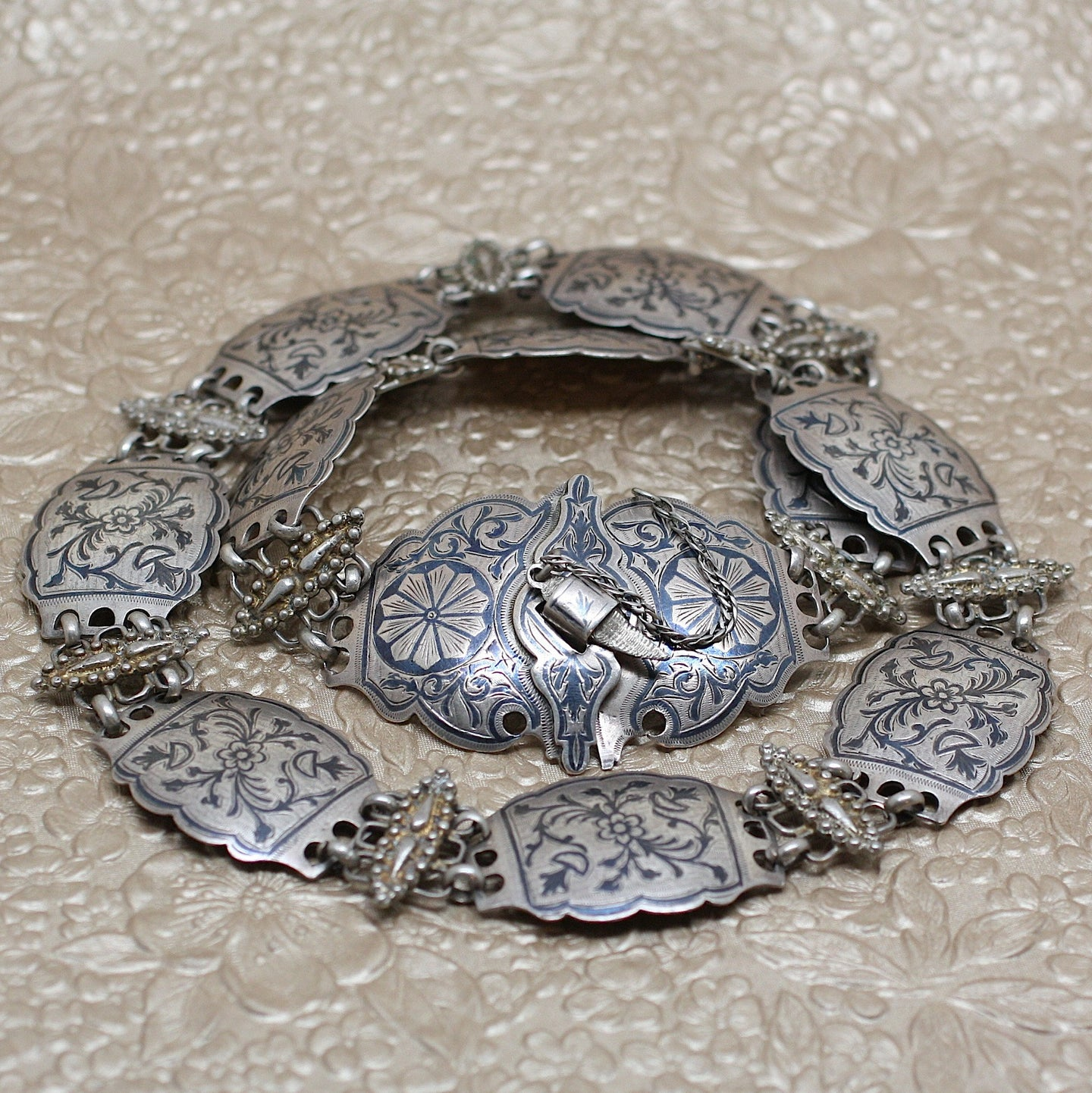 Antique Russian Silver Belt
