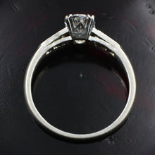 1940s Oval Cut Diamond Platinum Ring