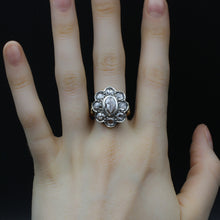 Georgian-Style Rose Cut Diamond Statement Ring c1980