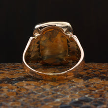 Handmade Onyx and Rose Gold Ring c1880