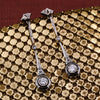 c1920 Platinum and 14k Diamond Drop Earrings