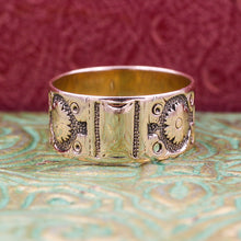 c1830 14k Rose Gold Signet Band