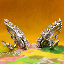 1920s Seaman Schepps Diamond Climber Earrings