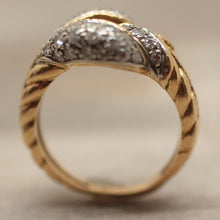 1930s-50s 18K & Platinum & Diamond Snake Ring