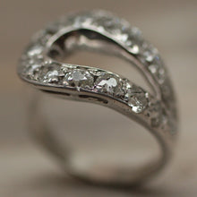 1920s-30s Deco 14K White Gold & Diamond Ring