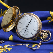 Taille d'Épargne Elgin Pocket Watch, 1881