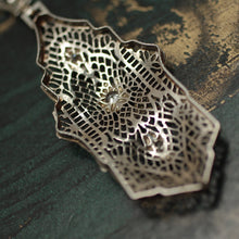 1920s 14K Filigree Diamond Pendant
