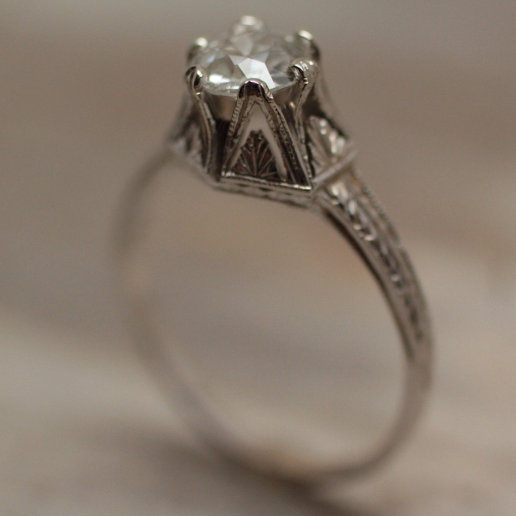 Circa 1910 14k Diamond Engagement Ring Pippin Vintage