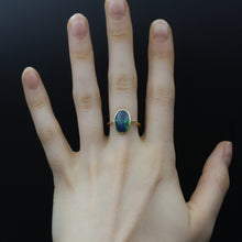Three Carat Flat Black Opal Ring