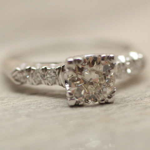 Circa 1920 .90Ct. Diamond Ring