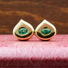 c1980 18k Chaumet Fine Emerald Earrings