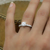 1940s Platinum Certified Near Flawless 1 Carat Diamond Ring