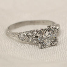 Circa 1920 Platinum & Diamond Engagement Ring