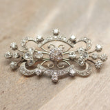 Circa 1920 Platinum & Diamond Brooch