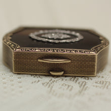 Circa 1900 14K, Tortoise shell & diamond pill box
