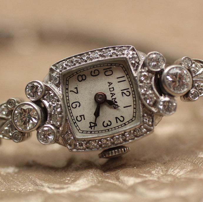 Circa 1920 Platinum & Diamond Ladies Watch