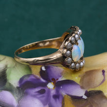 Opal and Natural Pearl Ring c1910