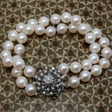 c1950 Pearl and Diamond Bracelet