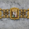 Georgian Pinchbeck Hand-painted Portrait Bracelet