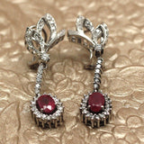 18K Ruby and Diamond Earrings
