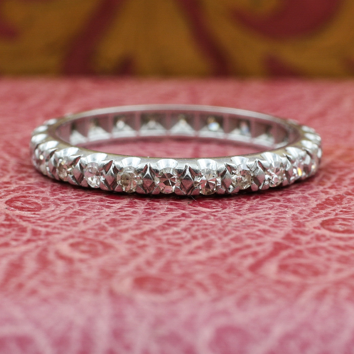 1920s Handmade Platinum Diamond Eternity Band