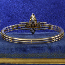Georgian Rose Cut Diamond Navette Bangle