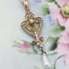 c1890 Diamond and Pearl Lavaliere Pendant