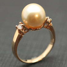 Circa 1970 14K Golden South Sea Pearl Ring