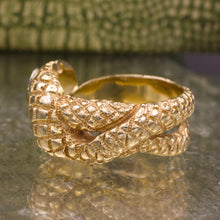 Carved Gold Snake Ring c1930