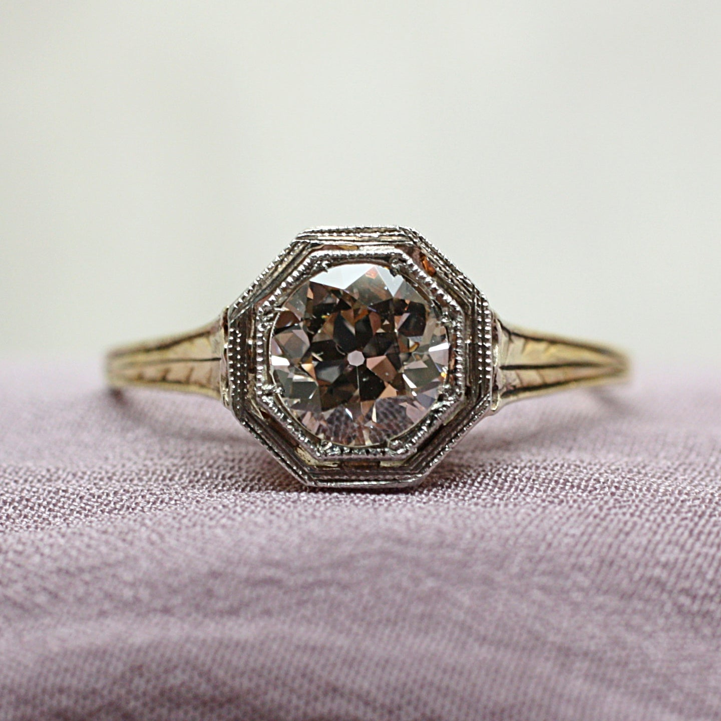 c1930 Deco Two-Tone Solitaire