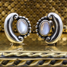 1950-60 Antonio Pineda Sterling Moonstone Earrings