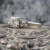 1940s Handmade Platinum .70 Carat Diamond Ring