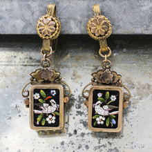 19th Century Micro-Mosaic Dove Earrings