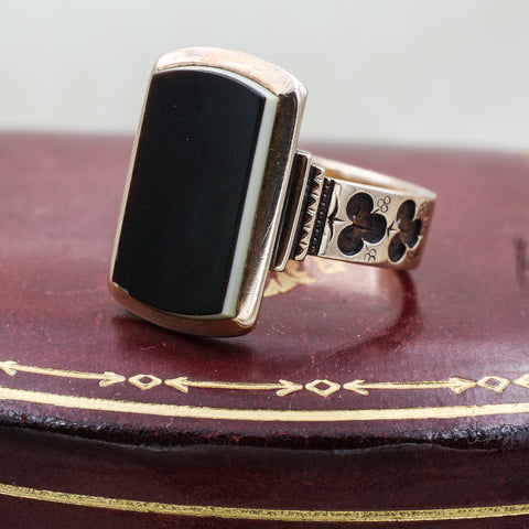 Victorian Handmade Banded Agate Ring