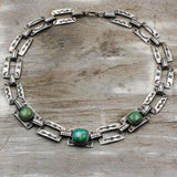 Fred Harvey Era Turquoise and Sterling Necklace