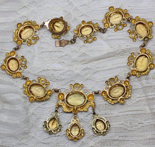 Late Georgian Pinchbeck Citrine Glass Necklace